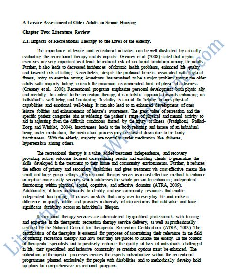 Literary review research paper sample